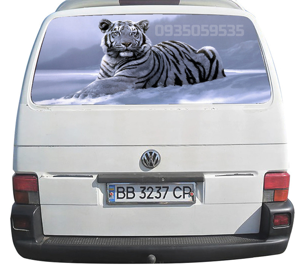 Красивые,  оригинальные и практичные наклейки на авто c 3D изображениям 4