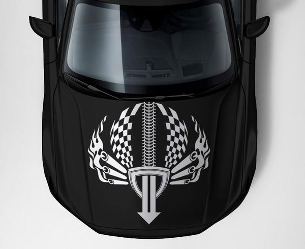 Красивые,  оригинальные и практичные наклейки на авто c 3D изображениям 6