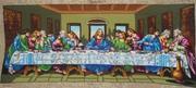 Тиха вечеря.  Вишита картина. Розмір 60 см  * 125 см. Ціна договірна.