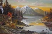 продаю свои картины маслом на холстах,  а также выполняю роспись по ст