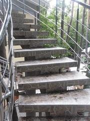 Изготовление бетонных лестниц.