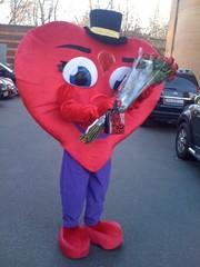 Оригинальное поздравление на День Валентина,  ростовая кукла сердце Рос
