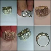 Продам мужской бриллиантовый перстень