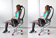Ортопедическое офисное кресло из кожи Wagner