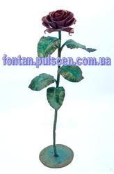 Кованая роза - сувенир подарок для девушки. ( цветы для интерьер )