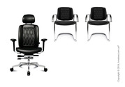Кресло руководителя Wagner в комплекте с офисными стульями