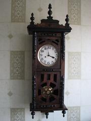 Продам часы старинные 19 в.Германия- Швейцария,  Густав Беккер с трехгонговым боем.
