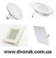 Светильники Led панели встраиваемые,  светодиодные светильники Киев