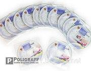 Печать на CD и DVD дисках,  тиражирование дисков.