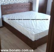 Деревянная кровать с подъёмным механизмом + матрас (кокос и отдельные