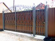 Металлические заборы и ограждения. Кованые ворота и калитки в Киеве