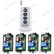 Комплект из 4 приемников и пульта для управления электроустройствами