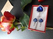 Уникальные подарочные ожерелья и серьги Titanik c кристаллами Swarowsk