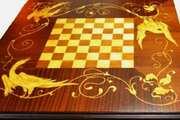 Шахматный стол - Венценосные журавли.